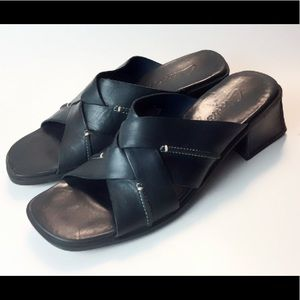 Clarks Navy Blue Leather Sandals